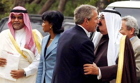 President Bush with Crown Prince Abdullah