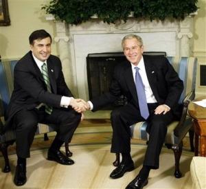 George W. Bush,  Mikhail Saakashvili