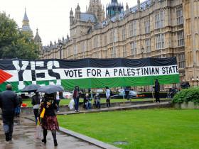 Supporters of Palestine demand vote for Palestine