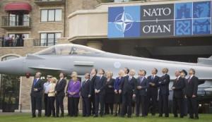 Air power flypast - NATO Wales Summit