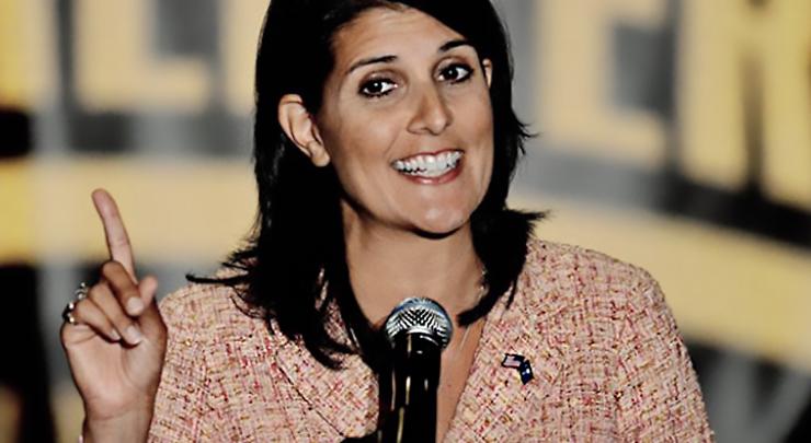Tea party rally, Governor Nikki Haley