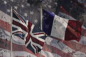 Bandiera di Francia e Inghilterra