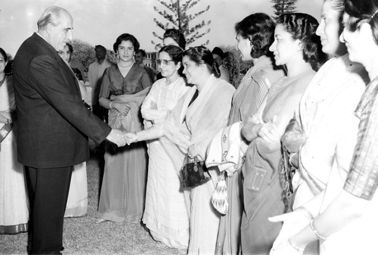 Прием в честь одного из самых известных президентов Сирии - Шукри Аль-Куатли в Бангалоре