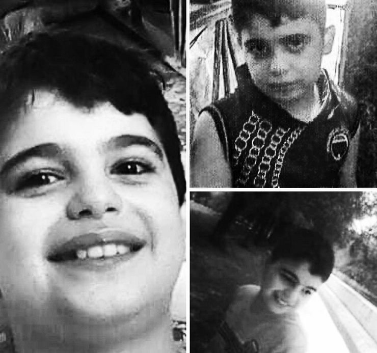 Collage of photos of the kidnapped Ahmed supplied by the family. Courtesy of Vanessa Beeley.