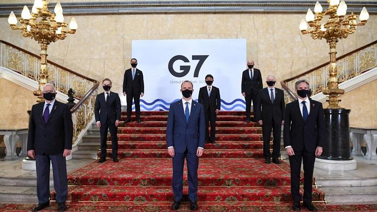 US-geführte G7 gegen Russland und China